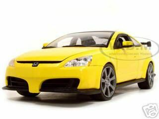 2003 Honda Accord Custom Tuner Yellow 1/18 Diecast Model Car  Motormax 73146