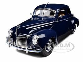 1939 Ford Deluxe Tudor Blue 1/18 Diecast Model Car Maisto 31180