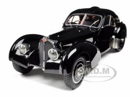 Bugatti Type 57 SC Atlantic Coupe Black Chassis #57.591 1/18 Diecast Model Car CMC 085
