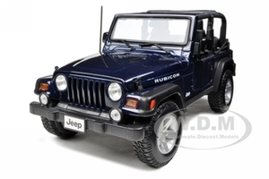 Jeep Wrangler Rubicon Deep Blue 1/18 Diecast Model Car Maisto 31663