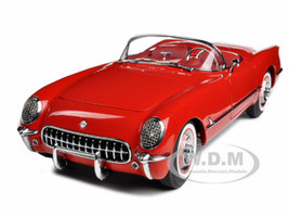 1954 Chevrolet Corvette Red 1/18 Diecast Model Car Autoart 71082