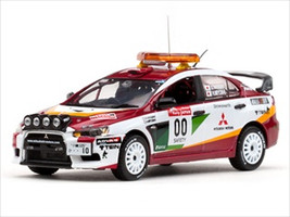 Mitsubishi Lancer Evolution X #00 2008 Rally Japan Course Car H.Miyoshi / S.Hayashi 1/43 Diecast Model Car Vitesse 43442