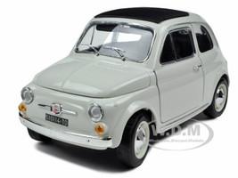 1965 Fiat 500 F White 1/18 Diecast Model Car Bburago 12020