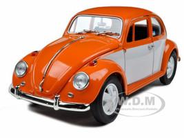 1967 Volkswagen Beetle Orange/White 1/18 Diecast Model Car Greenlight 12838