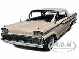 1959 Mercury Park Lane Closed Convertible White/Bermuda Sand,Pink 1/18 Diecast Model Car Sunstar 5165