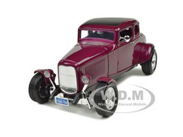 1932 Ford Five Window Coupe Burgundy 1/18 Diecast Car Model Motormax 73171