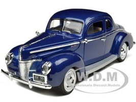 1940 Ford Deluxe Blue 1/18 Diecast Car Model Motormax 73108