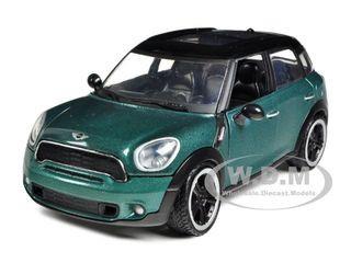 Mini Cooper S Countryman Oxford Green 1/24 Diecast Car Model Motormax 73353