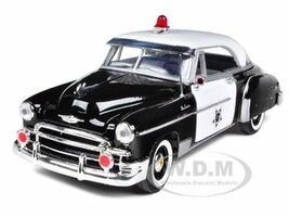 1950 Chevrolet Bel Air Police 1/24 Diecast Car Model Motormax 76931