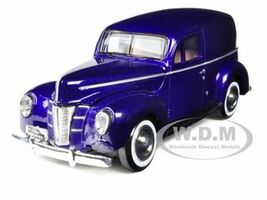 1940 Ford Sedan Delivery Purple 1/24 Diecast Car Model Motormax 73250
