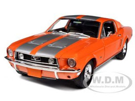 1968 Ford Mustang GT Fastback Orange with Silver Stripes Limited Edition 1 of 999 Produced Worldwide 1/18 Diecast Model Car Greenlight 50830 10506