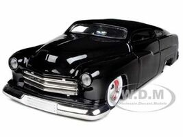 1951 Mercury Black With Baby Moon Wheels 1/24 Diecast Model Car Jada 96474