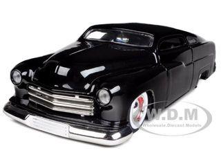 1951 Mercury Black With Baby Moon Wheels 1/24 Diecast Model Car Jada 96474
