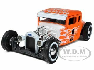 1929 Ford Model A Harley Davidson Orange With Flames #1 1/24 Diecast Model Car Maisto 32175