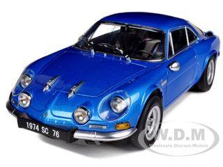 1974 Renault Alpine A110 1600SC Blue 1/18 Diecast Car Model Kyosho 08482