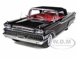 1959 Mercury Parklane Convertible Black / Charcoal Metallic 1/18 Diecast Car Model Sunstar 5166