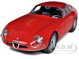 1963 Alfa Romeo Giulia TZ Red 1/18 Diecast Car Model Autoart 70196
