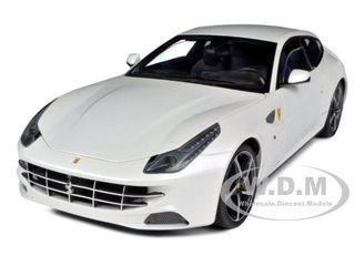 Ferrari FF V12 4 Seater Pearl White Elite Edition 1/18 Diecast Car Model Hotwheels W1119