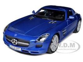Mercedes SLS AMG Gullwing Blue 1/18 Diecast Model Car Maisto 36196