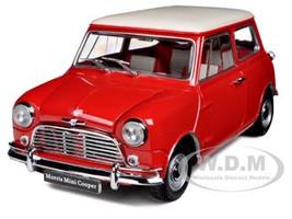 Morris Mini Cooper S MK-1 1275s Red 1/18 Diecast Car Model Kyosho 08108