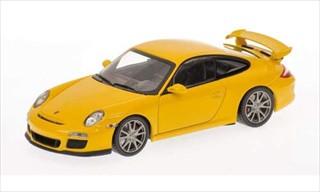 2009 Porsche 911 (997 II) GT3 Yellow 1/43 Diecast Model Car Minichamps 400068021