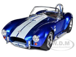 1965 Shelby Cobra 427 SC Metallic Blue With White Stripes 1/18 Limited Edition Shelby Collectibles SC139