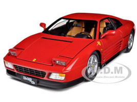 1989 Ferrari 348 TB Red Elite Edition 1/18 Diecast Car Model Hotwheels V7436