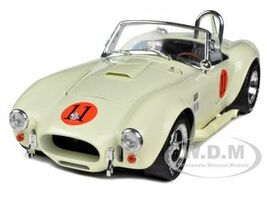 1965 Shelby Cobra 427 SC Cream #11 Limited Edition 1/18 Diecast Model Car Shelby Collectibles 136