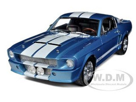 1967 Shelby Mustang GT500 Blue With White Stripes Limited Edition 1/18 Diecast Model Car Shelby Collectibles 141