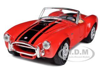 1965 Shelby Cobra 427 Red 1/24 Diecast Model Car Maisto 31276