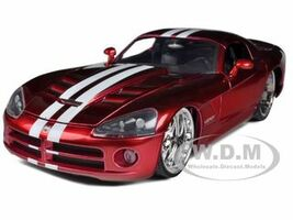 2008 Dodge Viper SRT10 Metallic Red 1/24 Diecast Model Car Jada 91803