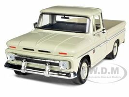 1966 Chevrolet C10 Fleetside Pickup Cream 1/24 Diecast Car Model Motormax 73355