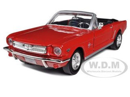 1964 1/2 Ford Mustang Convertible Red 1/24 Diecast Car Model Motormax 73212