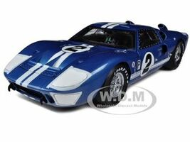 1966 Ford GT40 GT 40 Mark II #2 Blue 12 Hours of Sebring 1/18 Diecast Car Model Shelby Collectibles 401