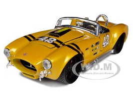 1965 Shelby Cobra 427 #42 Yellow 1/24 Diecast Model Car  Maisto 31325
