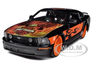 2006 Ford Mustang GT Harley Davidson Black With Eagle 1/24 Diecast Car Model Maisto 32169
