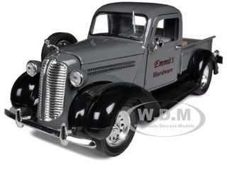 "1938 Dodge Pickup Truck Grey ""Emmit's Hardware"" 1/32 Diecast Car Model Signature Models 32392"