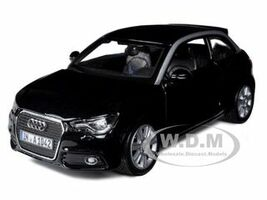 Audi A1 Black 1/24 Diecast Car Model Bburago 21058
