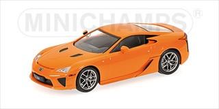 2010 Lexus LFA Orange Limited Edition to 1824 Worldwide 1/43 Diecast Model Car Minichamps 400166020