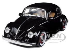 1959 Volkswagen Beetle Black With Baby Moon Wheels 1/24 Diecast Car Model Jada 92358