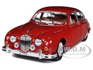 1959 Jaguar Mark II Red 1/18 Diecast Car Model Bburago 12009