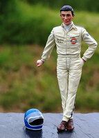 Jacky Ickx 1969 Figure With Helmet for 1/18 Diecast Model Cars Lemans Miniatures 118007