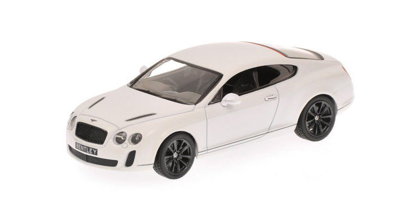 2009 Bentley GT Supersports Satin White Limited Edition 1 of 1296 Produced Worldwide 1/43 Diecast Model Car Minichamps 436139802
