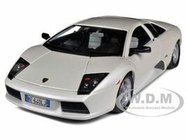 Lamborghini Murcielago Pearl White 1/18 Diecast Car Model Bburago 12022