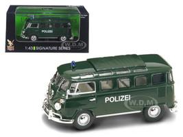 1962 Volkswagen Microbus Police Green 1/43 Diecast Car Model Road Signature 43210