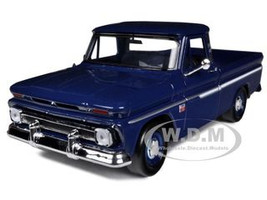 1966 Chevrolet C10 Fleetside Pickup Truck Blue 1/24 Diecast Car Model Motormax 73355