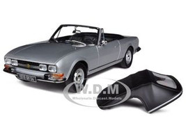 1971 Peugeot 504 Cabriolet Grey 1/18 Diecast Car Model Norev 184777