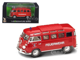 1962 Volkswagen Microbus Police Fire Department 1/43 Diecast Car Model Road Signature 43211