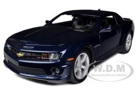 2010 Chevrolet Camaro RS SS Dark Blue Silver Wheels 1/18 Diecast Model Car Maisto 31173