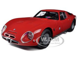 1965 Alfa Romeo TZ2 Red 1/18 Diecast Car Model Autoart 70198